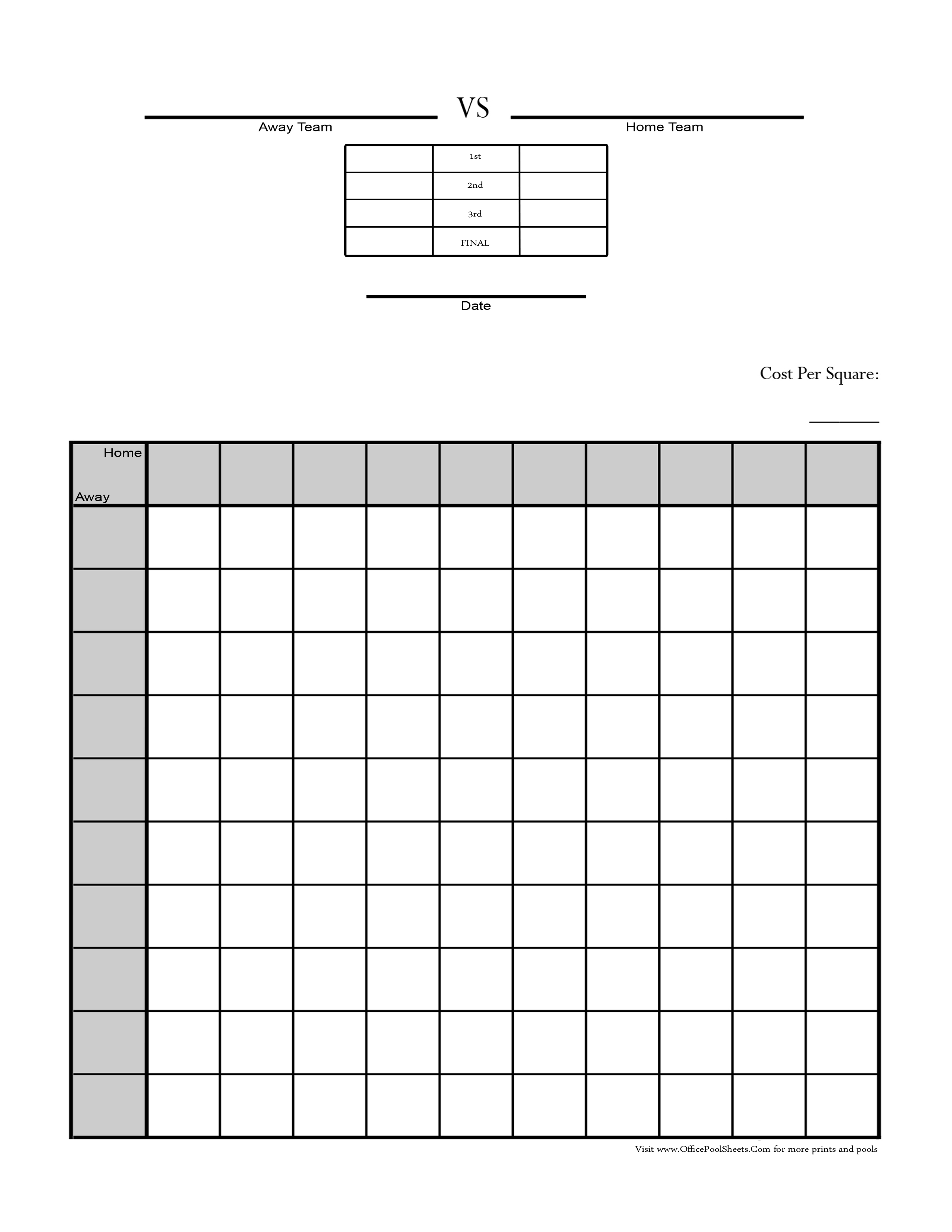 It's just a graphic of Critical Printable Football Squares